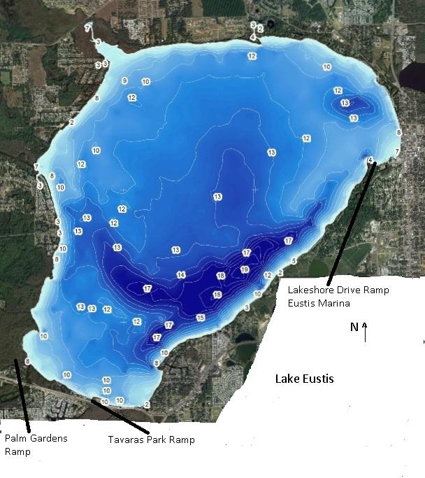 Contour Lake Maps of Florida Lakes - Bathymetric Maps, Boat