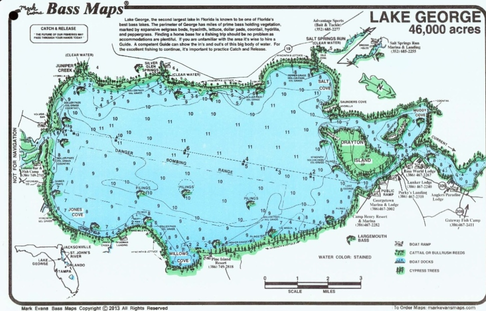 Florida Lakes Map.Contour Lake Maps Of Florida Lakes Bathymetric Maps Boat Ramp
